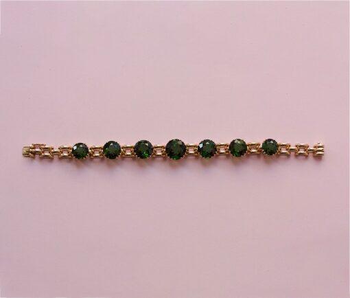 gold and tourmaline bracelet