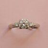 diamond and platinum Caldwell ring
