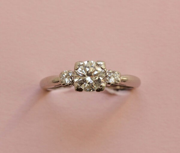 diamond and platinum Caldwell ring
