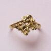 art nouveau flower ring