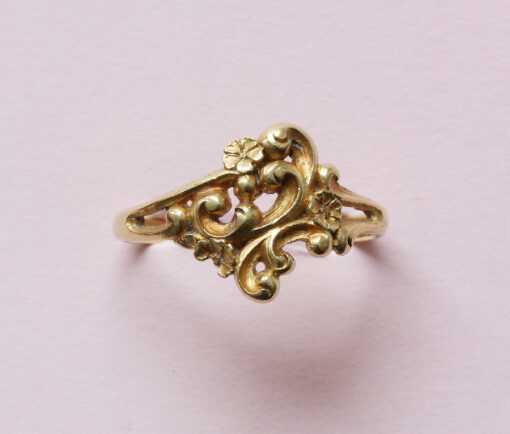 art nouveau flower ring