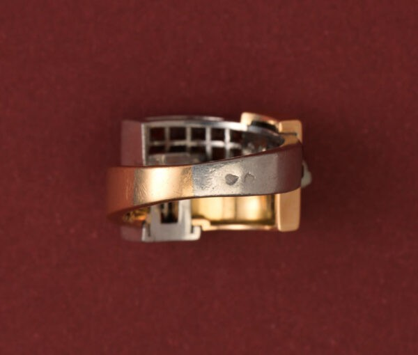 art deco hessonite garnet ring