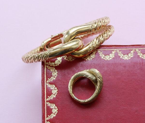 Cartier Paris gold knot set