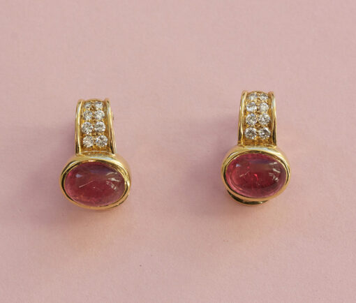 toermaline and diamond earrings