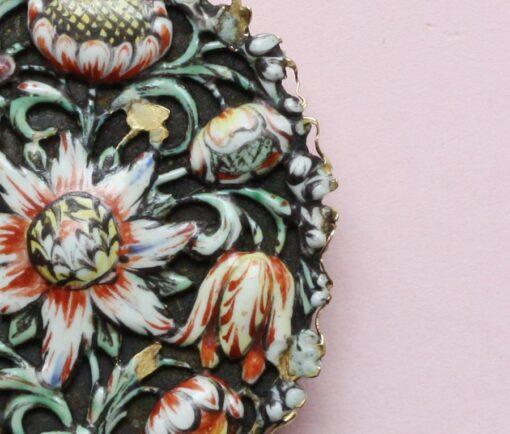 17th century enamel pendant
