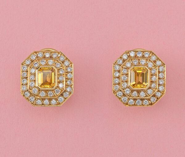 yellow sapphire and diamond