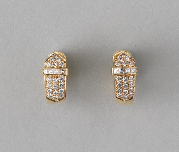 David Morris diamond earclips