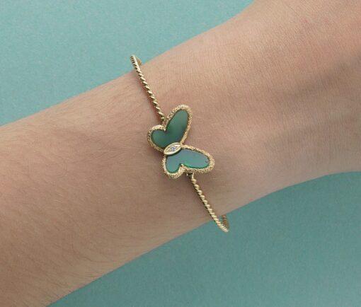 green vca butterfly bracelet