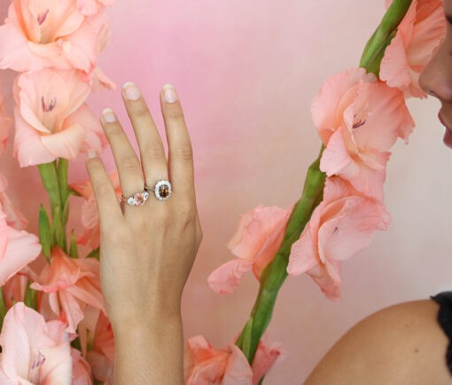 platinum diamond and zircon ring