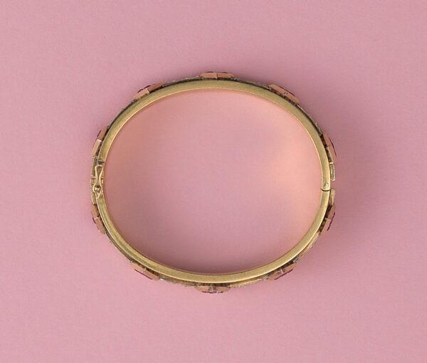goud ruby and diamond bracelet