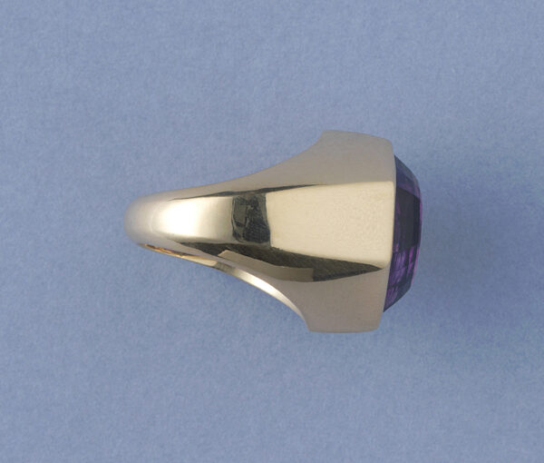 tiffany gold and amethyst ring