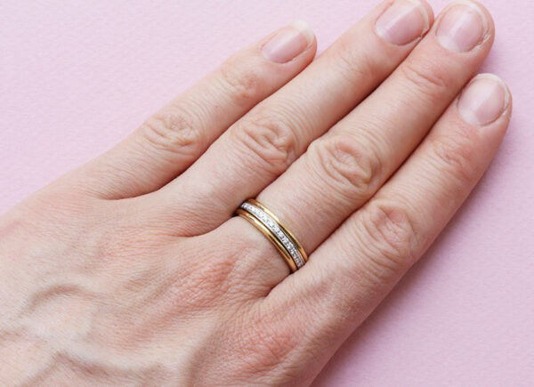 diamond and gold ring