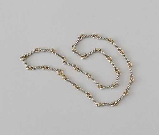 Chaumet silver and gold chain