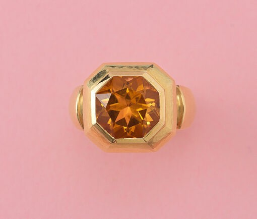 gold and citrine de Vroomen ring