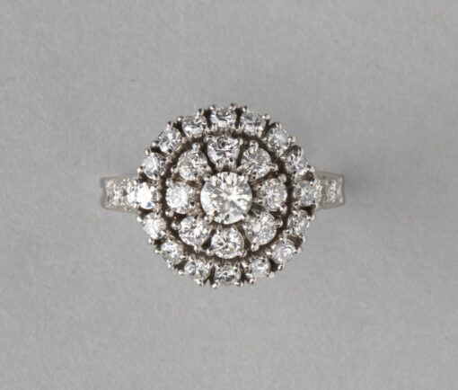 Tiffany diamond cluster ring