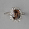 platinum diamond and zircon ring