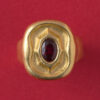 gold and ruby rudolf steiner ring