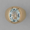 gold ring with aquamarine