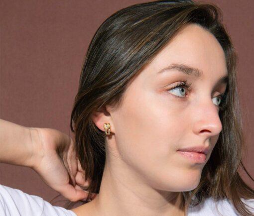 Boucheron heart earclips