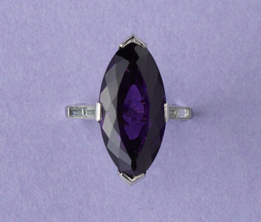 platinum and amethyst ring