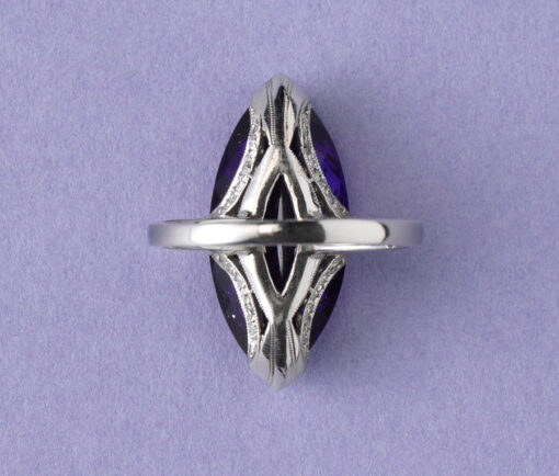 platinum and amethyst ring