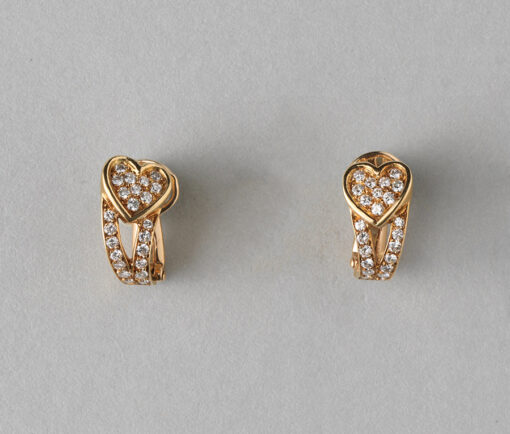 Boucheron heart earclips
