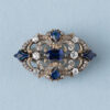 diamonds and sapphire brooch