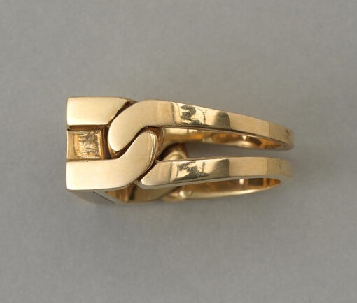 gold and tiger eye ring Jean Pierre Brun