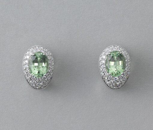 diamond and tourmaline earrings