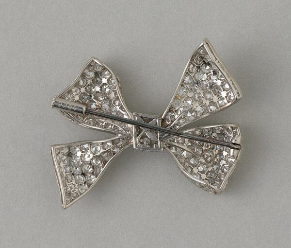 platinum bow brooch