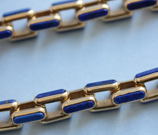 Gay Freres Gold and Lapis Necklace