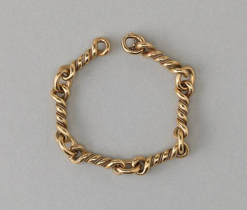 Hermes gold rope link bracelet