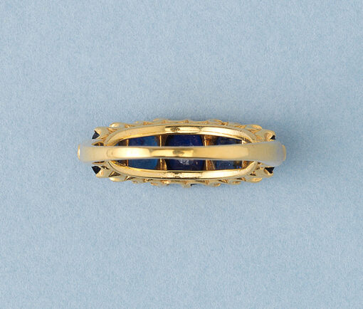 sapphire row ring